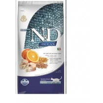 Farmina N&D cat OCEAN adult codfish,spelt,oats&orange 5 kg