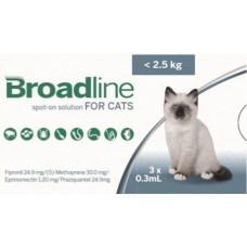 Broadline roztok 3 x 0,3 ml na vonkajšiu aplikáciu na kožu pre mačky